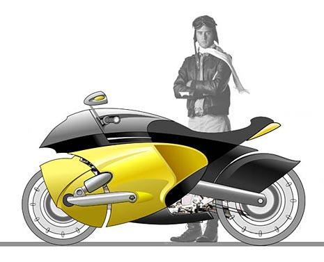 The Bugatti Revue 8 1 Bugatti Inspired Motorbikes