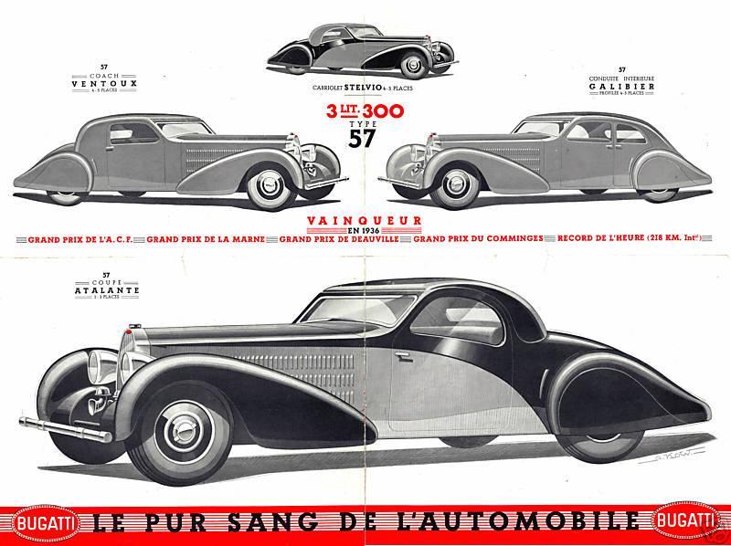 The Bugatti Revue 14 3 Type 57 Bugatti Brochure 1936