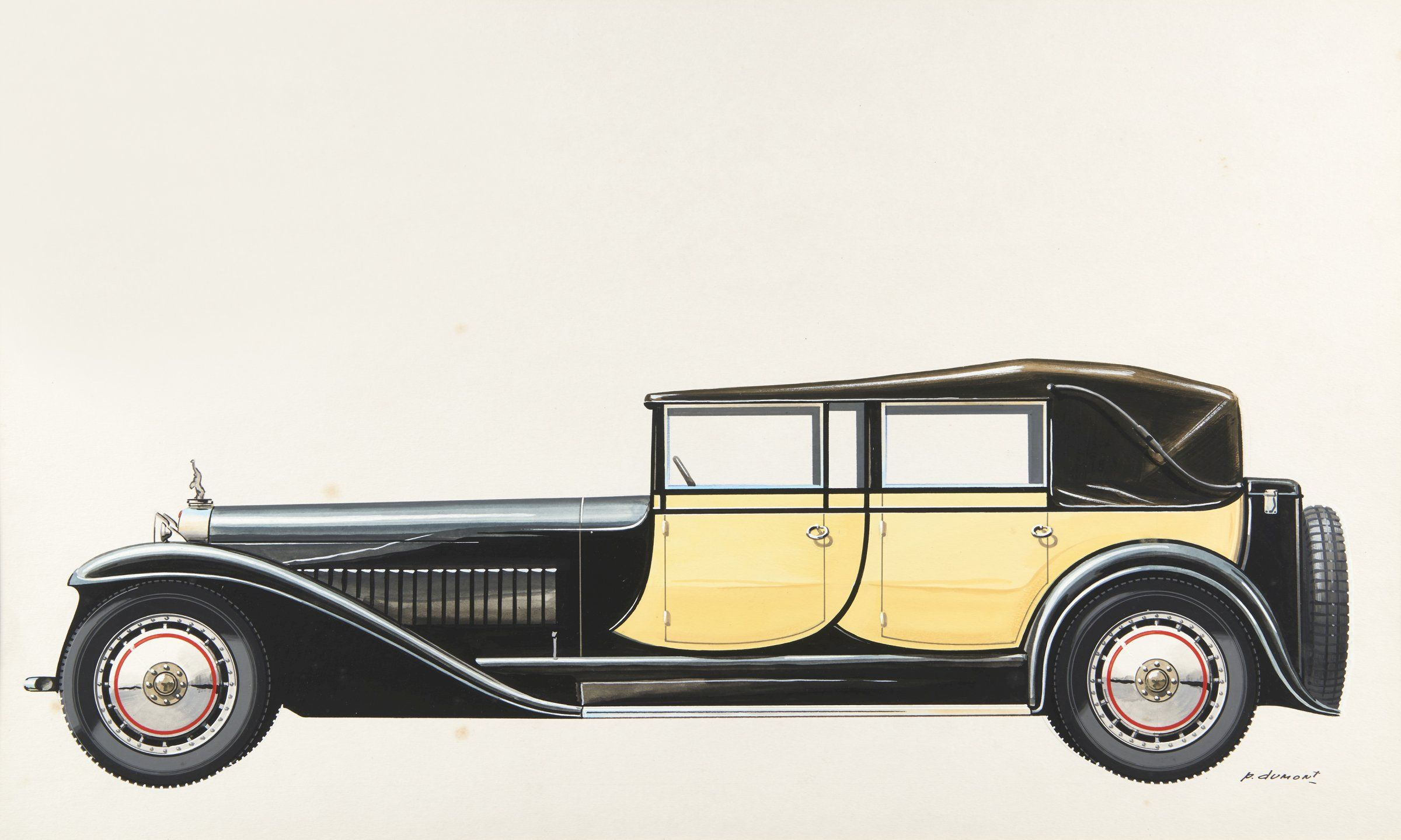 The Bugatti Revue 23 2 A Selection Of Bugatti Royale Artwork